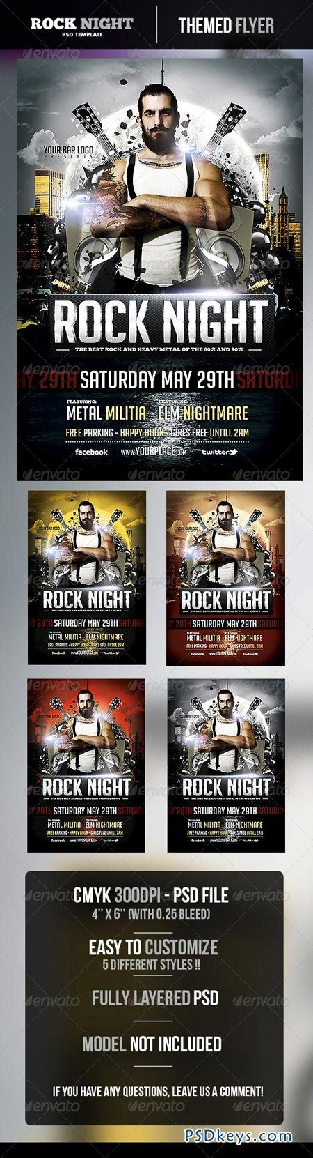 Rock Night Flyer Template 4912675 187 Free Download Photoshop Vector Stock Image Via Torrent Flyer Template Rar