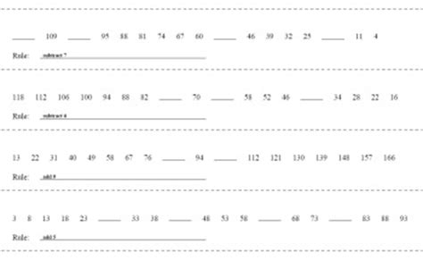 decreasing pattern rule sequences and number pattern puzzles edhelper com