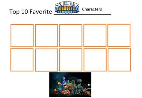 Top 10 Skylanders Giants Characters Template By Foxboy614 On Deviantart Top 10 Templates