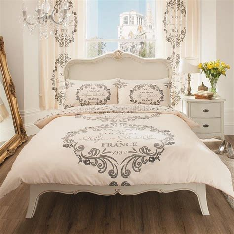 paris bedroom theme for adults paris script single duvet cover set new cream
