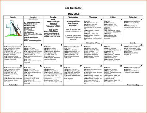 nursing home activity calendar template nursing home activity calendar template calendar image 2019