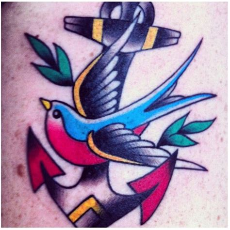 swallow and anchor tattoo designs bird anchor tattoos