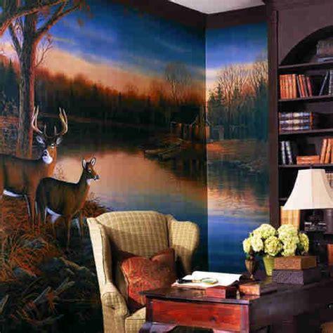 deer wall murals ra0169m deer tranquil evening wall mural by york
