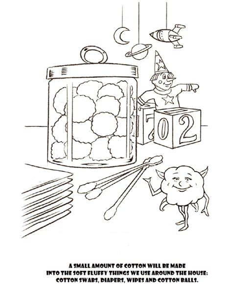 Cotton Plant Coloring Page Coloring Pages Cotton Coloring Pages
