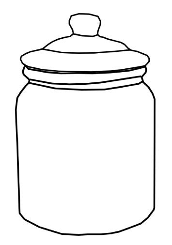 novel format jar a graphic of an outline of a cookie jar pattern ot cut out