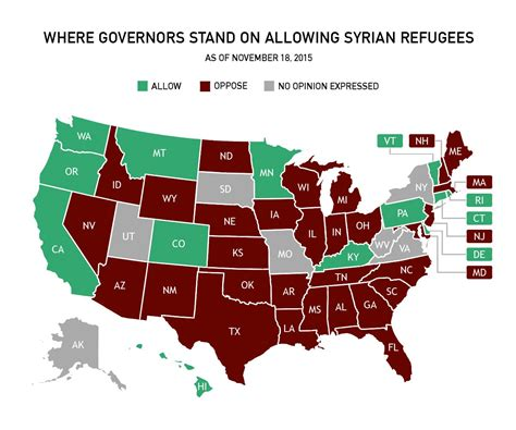 map of us states refusing refugees map of us states refusing refugees 28 images which
