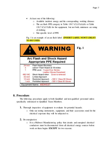 nice arc flash policy template pictures gt gt arc flash