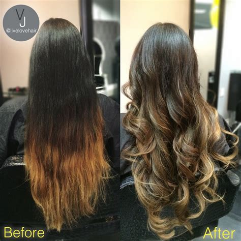 from brassy to a seemless light brown ombre by senior