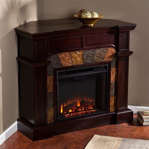 Southern Enterprises Electric Fireplace by Southern Enterprises Cartwright Espresso Convertible