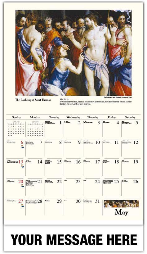 Calendar 2018 Jesus Catholic Wall Calendar 65 162 Fundraising And Business