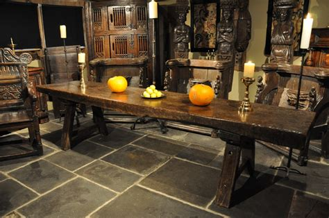 Pub Height Dining Room Sets a truly magnificent tudor oak trestle table from the late