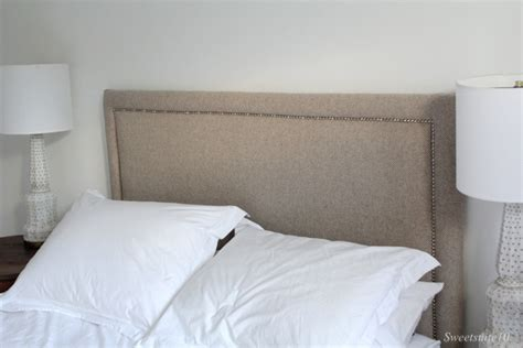 Upholstered Headboard Diy Diy Upholstered Headboard With Nailhead Trim Eamonn And