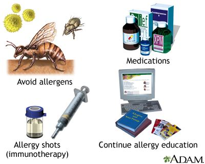 how to treat allergies introduction to allergy treatment medlineplus encyclopedia image