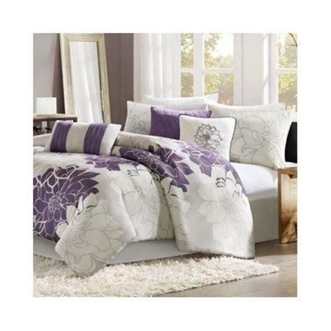 purple and white comforter modern cotton comforter bedding set purple white floral
