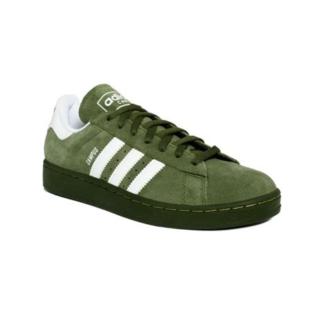 adidas campus  sneakers  green  men olivewhite lyst