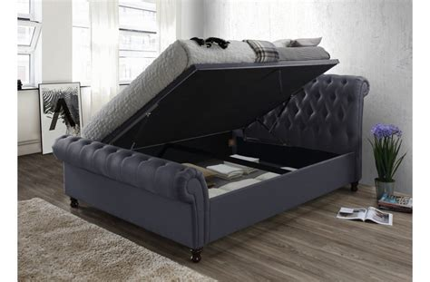 Side Bed Frame Buy Birlea Side Ottoman Charcoal Bed Frame Big Warehouse Sale