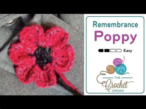 youtube poppy pattern how to crochet a poppy youtube