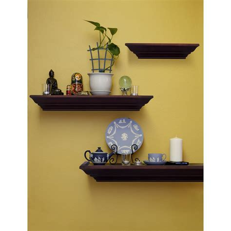 decorative shelves pinnacle burnes of boston 31 in w x 3 88 in d walnut 3