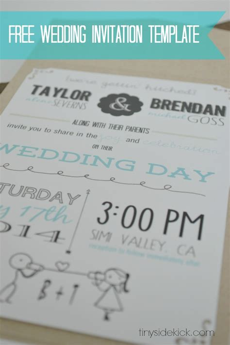 Wedding Invitations Free by Free Wedding Invitation Template With Inserts Wedding
