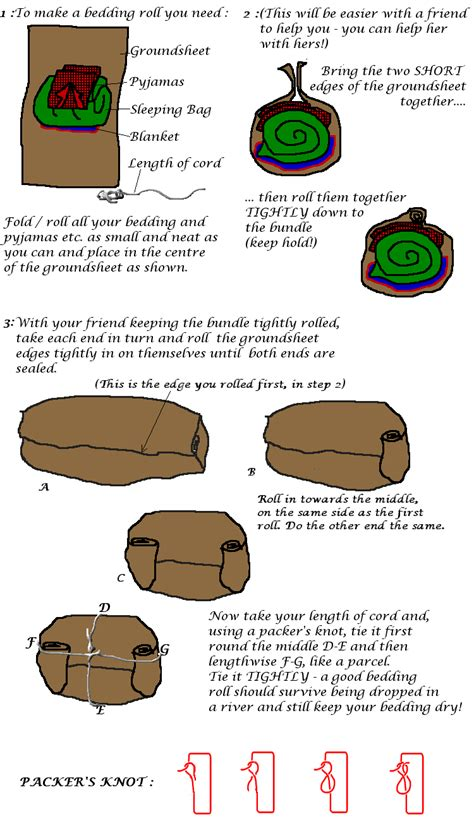 how to a to roll guiding uk how to tie a bedding roll