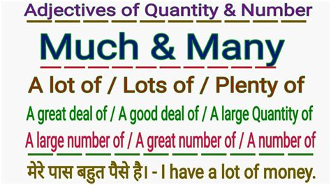 how to use quot many much a lot of lots of plenty