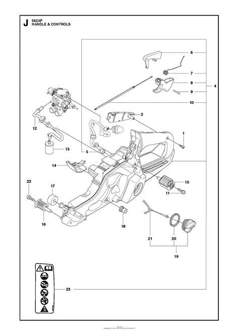 husqvarna  xp   parts diagram  handle controls