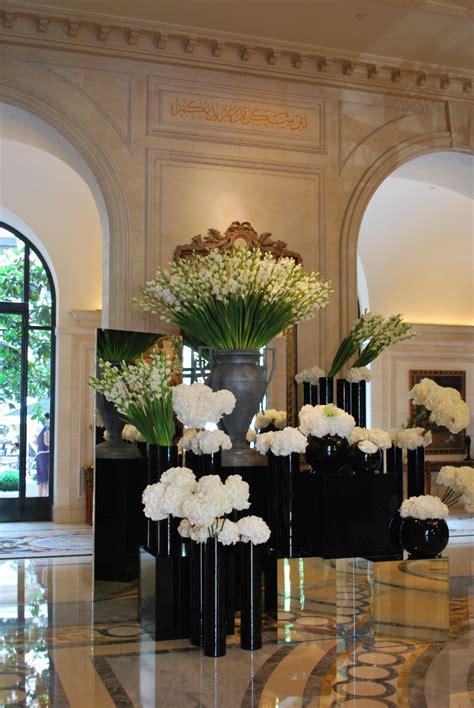 Parisian Interiors Stunning Lobby Flowers Four Seasons George V Paris