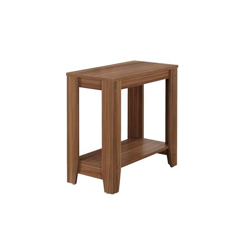 walnut accent table monarch specialties walnut end table i 3116 the home depot
