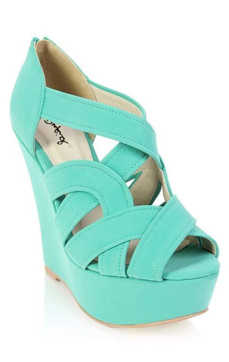 Blue Wedge Heels Wedding by Blue Wedge Wedding The Look Peep