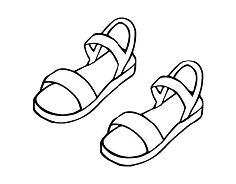 how to color a sandals coloring page coloringcrew