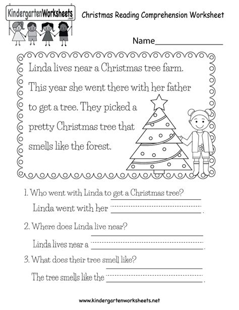 free printable worksheets for kindergarten reading free printable christmas reading worksheet for kindergarten