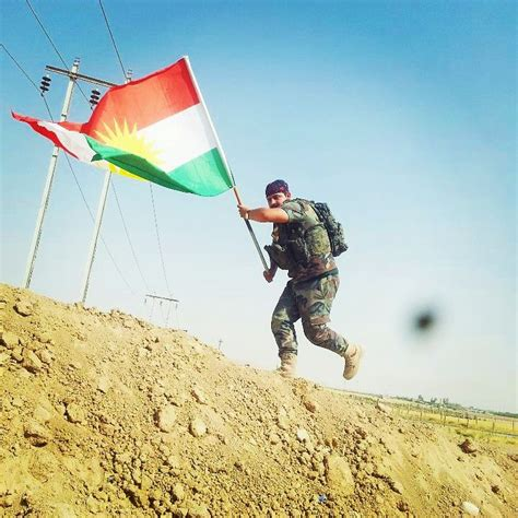 flags of the world kurdistan peshmerga with kurdish flag in mosul free kurdistan