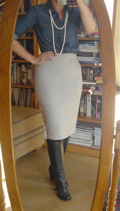 boots pencil skirt
