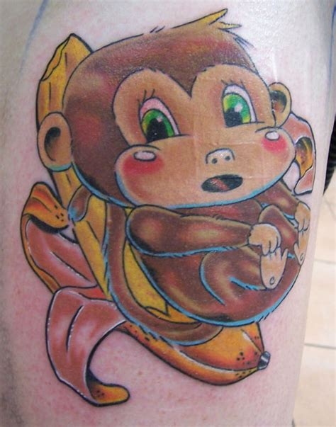 small monkey tattoo 27 arresting monkey tattoos creativefan