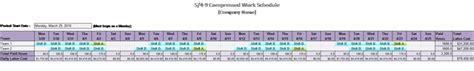 compressed work week template 5 4 9 compressed work schedule schedules templates
