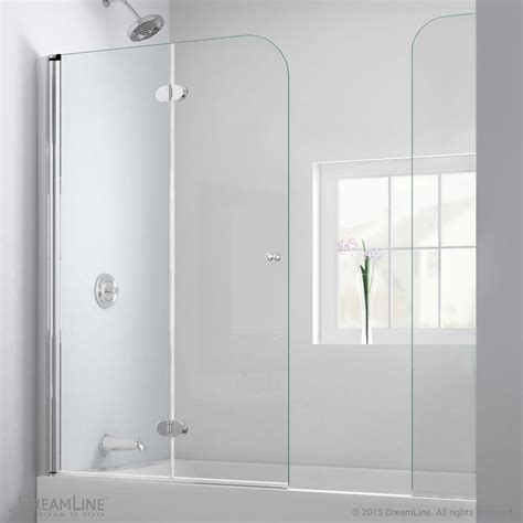 Bath Tub Glass Door Bath Authority Dreamline Aquafold Hinged Tub Door 56 Quot 60 Quot With Extender Panel Chrome Finish