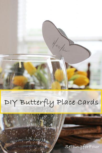 diy place cards template butterfly diy crafts ideas make these easy adorable personalized