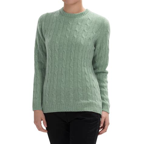 cable knit sweater womens johnstons of elgin cable knit sweater for