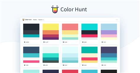 color hunt color palettes  designers  artists