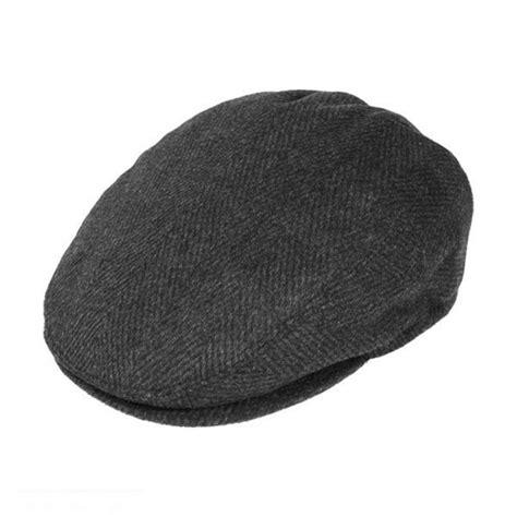 Hat L by Jaxon Hats Large Herringbone Wool Blend Cap Caps