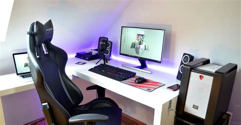 gaming room setup single monitor setup gaming setup pinterest monitor