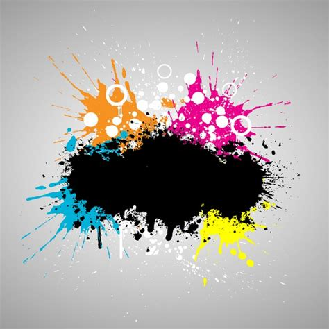 grunge style paint background vector free