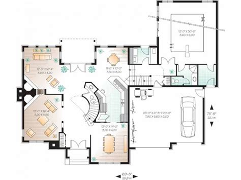 eplans new american house plan indoor pool