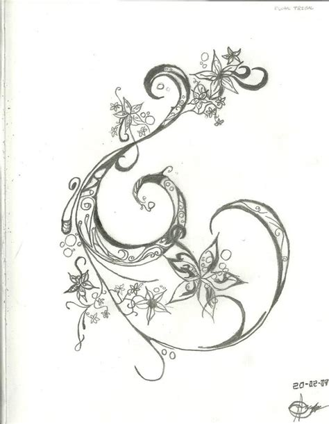 henna tattoo comprar ink outline swirl with flowers accent detail