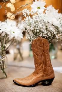 western wedding centerpiece ideas cowboy boot wedding centerpieces and western wedding how