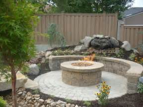 Great circular paver patio kit with large round outdoor fire pit and