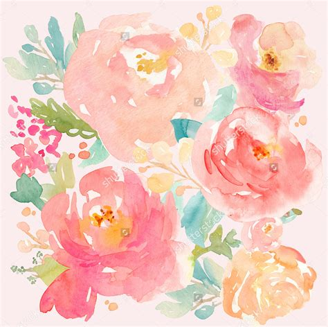 pretty painted floors with flower designs 26 watercolor paintings art ideas pictures images design trends premium psd vector