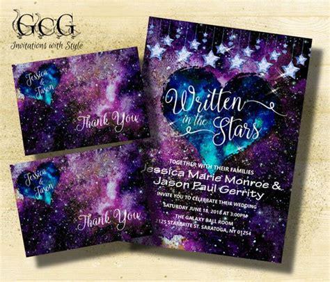 galaxy wedding invitation suite galaxy themed wedding galaxy