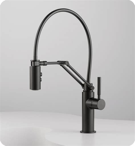 articulated kitchen faucet brizo 63221lf brizo solna single handle articulating kitchen faucet with magnetic spray