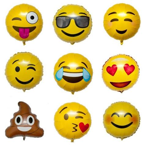 Balon Foil Emoji Birthday emoji foil balloons smiley candle cake shop